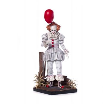 It Pennywise W/ Balloon Deluxe Art Scale Statue